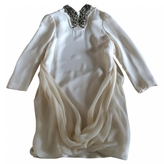 Balmain Ecru Silk Dress