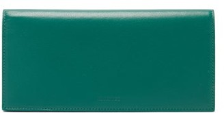 Jil Sander Logo-debossed Leather Wallet - Green