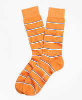 Brooks Brothers Two-Color Stripe Crew Socks