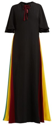 STAUD Victorian Rainbow-panel Maxi Dress - Womens - Black Multi