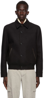 Brioni Black Wool and Cashmere Jacket