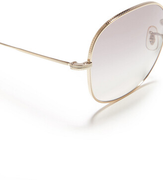 Oliver Peoples Mehrie Square-frame Gold-tone Sunglasses