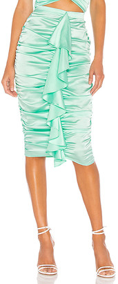 For Love & Lemons X REVOLVE Ruched Midi Skirt