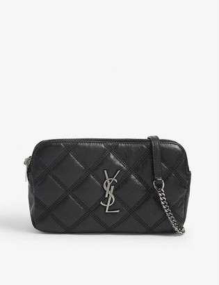 Saint Laurent Becky quilted leather camera bag