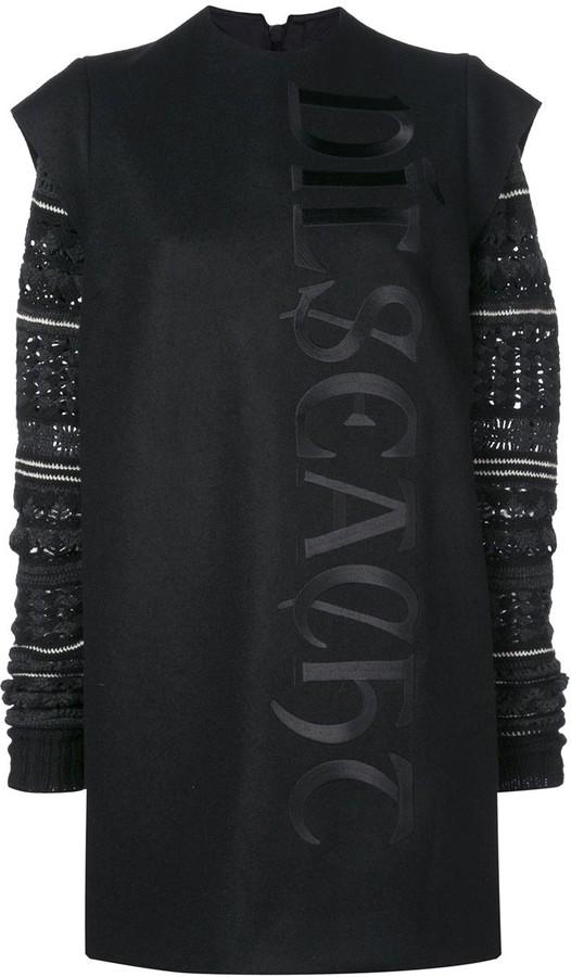 Vera Wang Fair Isle Knit Sleeve Dress