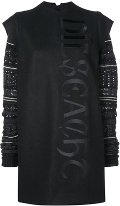 Vera Wang Fair Isle Knit Sleeve Dress