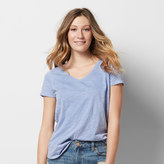 SONOMA Goods for Life Women's SONOMA Goods for LifeTM Slubbed V-Neck Tee