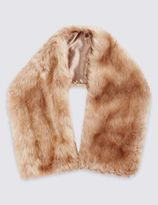 Marks and Spencer Slot Through Faux Fur Scarf