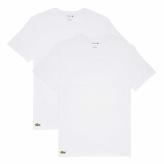 Lacoste Men's Casual Classic Cotton Stretch 2 Pack V-Neck T-Shirts