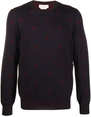 Alexander McQueen Skull Patterned Jumper
