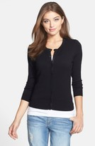 Halogen Petite Women's Three Quarter Sleeve Cardigan