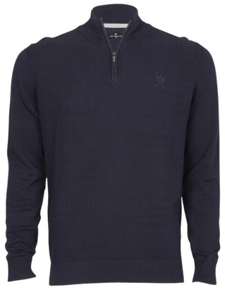 Jeff Banks 1/4 Zip Textured Knit