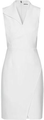 Elie Tahari Elodie Crossover Crepe Mini Dress