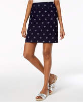 Charter Club Embroidered Pull-On Skort, Created for Macy's