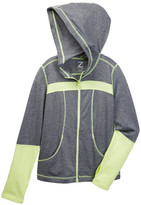 Z By Zella Melange Colorblock Perforated Hoodie (Little Girls & Big Girls)