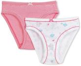 Petit Bateau Set of 2 girls milleraies-striped/sequin-printed panties