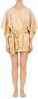 Carine Gilson Women's Lace-Trimmed Silk Satin Kimono Robe