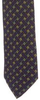 Hermes Geometric Knot Print Silk Tie