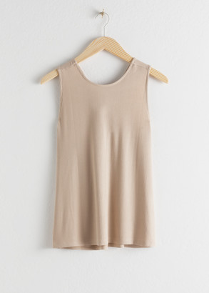 And other stories Twisted Rib Knit Tank Top