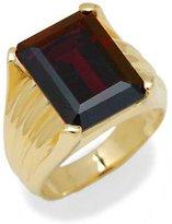 Tatitoto Gioie Men's Ring in 18k Gold with Garnet, Size 11, 14 Grams