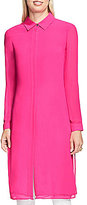 Vince Camuto Long Sleeve Button Front Side Slit Tunic