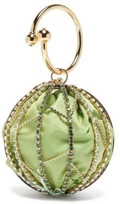 Rosantica Alice Crystal-embellished Caged Clutch Bag - Green Multi