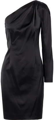Elie Tahari Nikita One-shoulder Satin Mini Dress