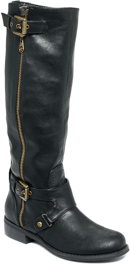 G by Guess Women's Shoes, Hertlez Wide Calf Riding Boots