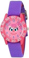 EWatchFactory Girl's 'Sesame Street' Quartz Plastic and Nylon Watch, Color:Purple (Model: W003157)