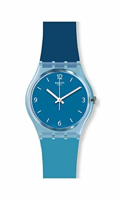 Swatch Unisex Adult Analogue Quartz Watch with Silicone Strap GS161