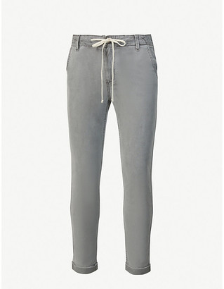 Paige Christy straight-leg mid-rise stretch-denim jeans