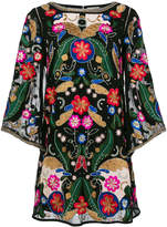 Alice + Olivia Alice+Olivia embroidered pattern dress