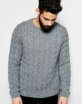 Asos Crew Neck Sweater with All Over Cable