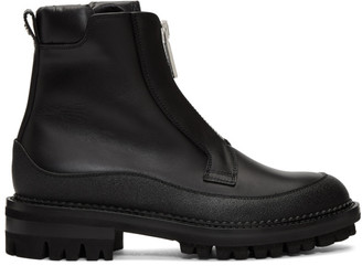 DSQUARED2 Black William Flat Zip Boots