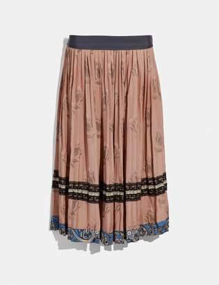 Coach Tulip Print Pleated Skirt