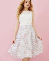 Ted Baker Oriental Blossom mesh detail dress