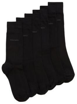 BOSS Three-pack of regular-length socks with logo detail