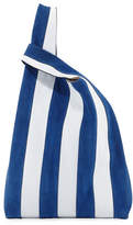 Hayward Suede & Leather Stripe Shopper Tote Bag