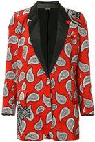 Dodo Bar Or - paisley print blazer - women - Silk/Leather - 42
