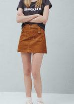 Mango Outlet Pocket Cotton-Blend Skirt