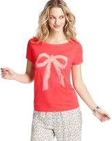 LOFT Bow Graphic Cotton Tee