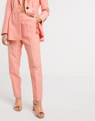 Asos DESIGN tapered suit pants in peach