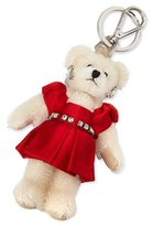 Prada Teddy Bear Charm for Handbag w/Red Dress, Red (Fuoco)