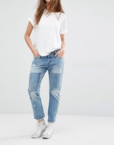 Levi's Levis 501 Ct Mid Rise Tapered Leg Jeans With Patches
