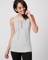 Le Château Rib Jersey Lace-Up Top