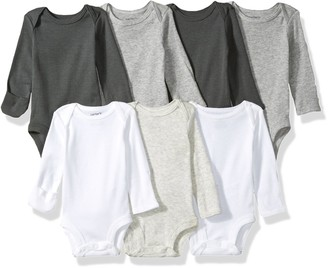 Carter's baby girls 7-pack Long-sleeve Bodysuits T Shirt