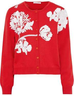 Oscar de la Renta Sequin-embellished Wool Cardigan