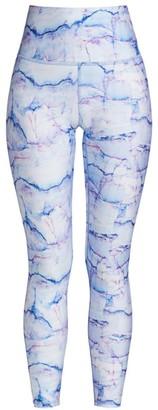 Terez Marble Printed Active Leggings
