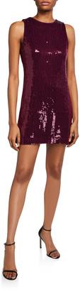Alice + Olivia Kamryn Sequined Cowl-Back Dress