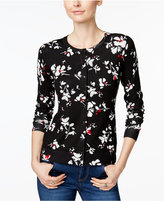 Charter Club Floral-Print Cardigan, Only at Macy's